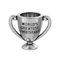 antique silver trophies - My Shape New Design Antique Silver Plated Engrave Word World s Greatest Sweetheart On Trophy DIY Trophy Message Pendant