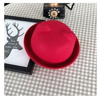 artificial leather cloth - Winter women cloth top hat with ear british jazz edge dome little cap nine color loches