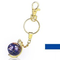 Wholesale 2016 Hot selling fashionable design Travel Souvenir unique yellow blue red aluminum alloy sphere globe custom tellurion Metal keychain
