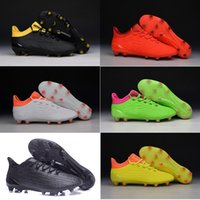 Wholesale Boys Kids new oriGINal mens HIGH ankle fooTbaLls bOOTs MERCURY ACE X soccer shoes FG TF turf Messi sOcCEr cLEAts