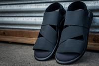 ankle strap flat sandal leather - New Originals Y Qasa Sandal Black summer y3 sandal for men and women top quality Y3 Slipper Shoes sieze