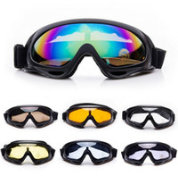Wholesale Outdoor X400 Windproof Motorcycle Goggles Eyewear Protective Ski Snowboard Motorcross Impact Resistant UV400 Glass Goggles Military glasses