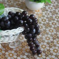authentic decor - New Bunch Authentic Grain Artificial Grapes Pvc Fake Decorative Fruit Food Home Party Wedding Decor Black