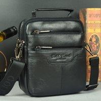 best male messenger bag - Best gift Gold coral multifunctional fine men bag new arrival male small messenger bags shoulder bag handbag cowhide waist pack