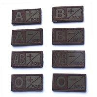 b ab clothes - 50 PCSWoodland Olive Green Black Military Blood Type A B AB O Positive A B AB O Negative Hook Patch Armband Badges free ship