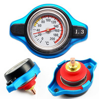 Wholesale Car Universal Temperature Gauge Utility safe and and bar Thermo Radiator Cap Tank Cover small head
