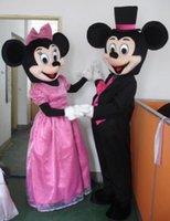 Clásico Mickey y traje de la mascota del ratón de Minnie Mickey Mouse traje de la mascota envío gratuito