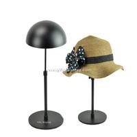 adjustable display stands - Adjustable Metal Hat Stand Display Black Stainless Steel Hat Hanger Cap Stand fedora hat rack hat display case