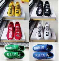 Wholesale 2016 NMD Human Race Runner Boost Pharrell s Runners Trainers NMD Boost running Shoes Hu race Williams Pharrell x White Black Red Yellow