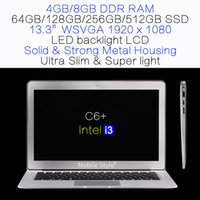 Wholesale Logo Customization inch Intel i3 GB Ram GB SSD hard disk laptop LED backliight LCD Windows7 Win8 Notebook metal case slim C6 i3