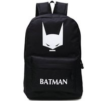 batman logo backpack - Logo Batman backpack The Dark Knight school bag Super hero day pack Hot sale schoolbag Quality rucksack New daypack