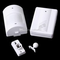 Wholesale New Wireless Infrared Monitor Sensor Detector Entry Door Bell Alarm Chime GOCG E00224 FSH