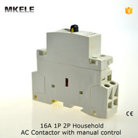 Wholesale MKWCT M P A A A V V HZ din rail household ac contactor NO with manual control
