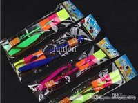 Wholesale High Quality LED Slingshot toys Light Up Slingshot Umbrella Helicopter Toy