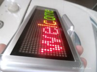 acrylic office signs - 3 Color Programmable LED Message Sign Scroll Moving Display x64 dot Desk board desk office board