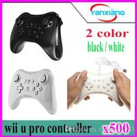 Precio de Xbox dual-500pcs Wii U Pro controller- inalámbrico Bluetooth Dual Analog construido en el controlador de baterías solo motor para Nintendo Wii U Pro YX-WUII