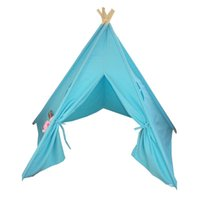 Wholesale blue color Indian child teepee playhouse kids game house doll room