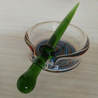 Wholesale 2016 New Arrival Glass Ash Catcher Smoking Portable Ashtray With Dabber For Glass Bong Glass Water Pipe Bubbler Illadelph Bongs Dab Rig