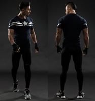 civil war clothing - Captain America T Shirt D Printed T shirts Men Avengers iron man Civil War Tee Cotton Fitness Gym Clothing Male Crossfit Tops