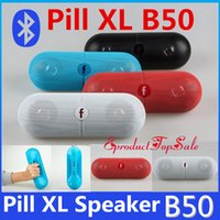 Wholesale XL Pill Speakers Bluetooth Speaker B50 Pill XL Speaker Super Deep Bass with Retail Box for tablet PSP iphone Sumsang S6 HTC Smartphone