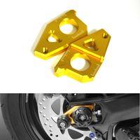 motorcycle chain adjuster - K SHARPMOTOR K CA YA Motorcycle CNC Rear Axle Spindle Chain Adjuster Blocks for Yamaha TMAX