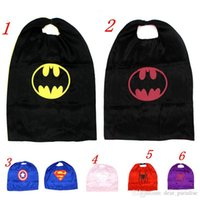 Wholesale Top Quality CM Double Side Kids Superhero Starship Trooper Batman Spiderman Capes for Kids Halloween Birthday Party Gifts