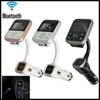 Wholesale Wireless Bluetooth LCD FM Transmitter Modulator Car Kit MP3 Player With SD USB Remote Hands free Car Kit For IPhone Samsung Smartphone