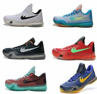 Wholesale Men s Kobe KOBE X EP ZK10 Low Basketball Shoes Cheap Mens Sports Shoes Cheap Shoes Leather Mens Basketball Shoes Eur