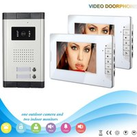 apartment sales - Hot sale slim style inch screen and intercom system for1v2 multi apartment