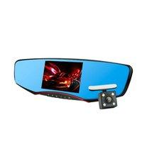 Nuevo 5.0Inch Car Dvr espejo cámara grabadora de visión nocturna de visión trasera del monitor del coche cámara Full HD 1080p doble lente Blackbox
