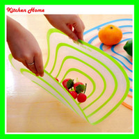 Wholesale 4PCS Portable Plastic Chopping Block SET Non slip Frosted Antibacteria Kitchen Cutting Board for Vegetable Meat Fruit Food Essential