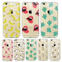 apples bananas - New Summer Fruit Banana Unicorn Transparent Soft TPU Clear Case for iPhone s Plus S SE C Cactus Lips Flamingo
