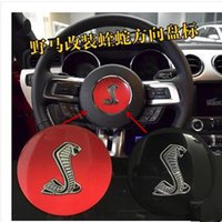 Wholesale 1PC Black Steering Wheel horn Emblem for Ford for Ford Mustang GT350 shelby Badge