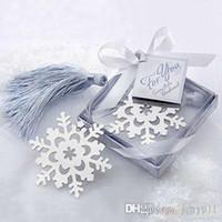 Wholesale New Cute Snowflake Alloy bookmark Creative Exquisite ribbon box gift X X