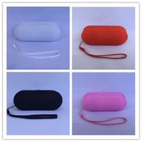 Boîte de haut-parleur de radio France-Mini Pill Bluetooth Speaker Protable Bluetooth Haut-parleurs sans fil intelligent mains libres son boîte avec 3,5 mm FM Radio TF de soutien de carte Mini mp3 mp4