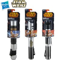 Wholesale 20PCS HASBRO Star Wars hasbro Lightsaber scalable three star war light saber children s Christmas gifts and holiday gifts