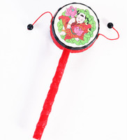 Wholesale whilesale children s toys rattle traditional auspicious patterns rattle small infant educational toys