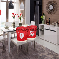 b chairs - 2 style Lovely Christmas Chair Cover Santa Claus Snowman Embroidery chair cloth Chistmas dinner chair decoration M360 B