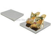 Wholesale Mirror light Metal stainless steel boutique shoes showing display sandals shoes display stand shoe holder keeper rack