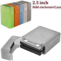 Wholesale Sata Ide Hard Drive Caddy - 2016 Rushed Optibay 2.5 Inch Ide Sata Hdd Caddy Case External Hard Drive Disk Storage Box for Ssd Enclosure Cases Shock Option Multi Color