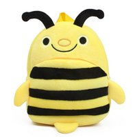 bees work - Hard Working Cute Bee Kindergarten School Bag Plush Backpack for Years Old Baby Carry Ninas Ninos Gift
