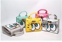 big fun bags - women flap bag small cute fun mouse big eye bags leather handbags kawaii sweet heart girl lock sequins bolsa messenger bags