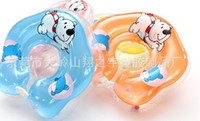 Wholesale Lovely Baby Swim Neck Rings Safety Comfortable Soft Swimming Collars Double Thick Life Buoys PVC Inflatable Swimming Rings
