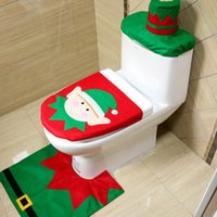 Wholesale 2016 New Pieces Christmas Decoration Snowman Style Toilet Seat Cover For Bathroom Deer Horse fairy Horse series Available