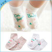 baby socks free shipping - pairs cotton baby socks rubber slip resistant floor socks printed small kid s socks baby