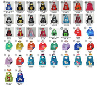 Wholesale kids cape Double Side kids Superhero Cape Super hero Ninja Turtles Batman Spiderman Captain America Supergirl kids cape in stock with mask