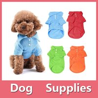 apparel hair accessories - Pet Puppy Colorful Summer Polo Shirt Small Dog Cat Pet Clothes Costume Apparel T Shirt Pet Supplies