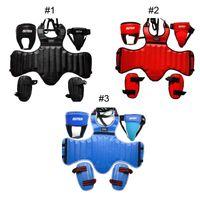 Wholesale 2016 Hot Selling SUTEN PU Leather Sanda Boxing Protective Gear Set Thick Head Guard Chest Protector Jockstrap Leg Shield