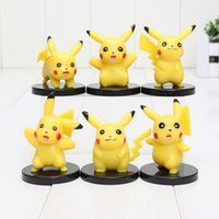 Wholesale Poke Center Figures Mini Poke Pikachu Figures PVC Action Figure Japanese Anime Collection Model Toy