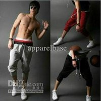 Wholesale Harem PantsMens Casual capri pants cargos shorts Mens sport shorts mens Hip hop pants